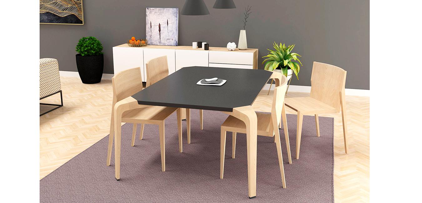 3d sillas mesa